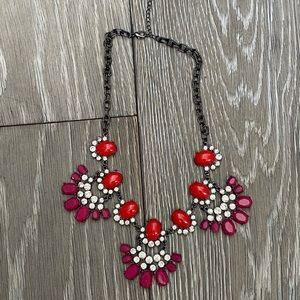 Baublebar purple/red/Crystal statement necklace